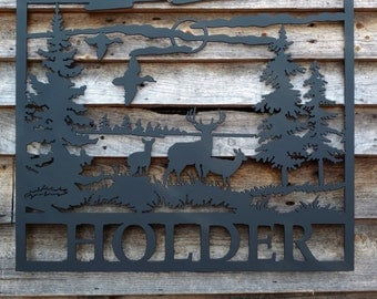 Metal wall decor personalized with your name!