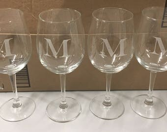 Personalized Wine Glasses Laser Etched