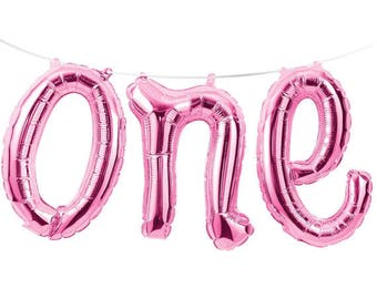 Giant One Balloon Pink - 1st Birthday Party Balloon - Baby Birthday decorations