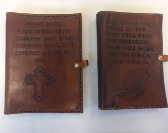 Custom Leather Bible, Book or Journal Cover