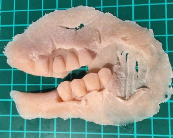 SFX Prosthetic ripped jaw