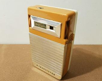 Vintage Bel Air Linmark 8 Transistor Portable Radio, Made in Japan