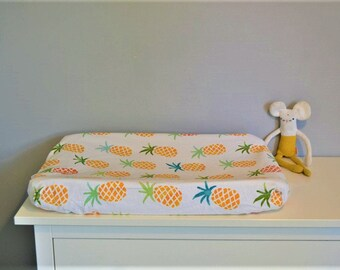 Changing pad change mat cover Nursery baby gift Summer spring Cotton present dresser new born room pineaplle babyshower commode