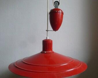 LAMP SUSPENSION ALUMINOR 70's Red