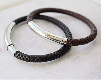 Men's Adjustable Leather Bracelet