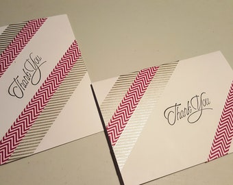 Set of 2 Thank You Cards - Blank