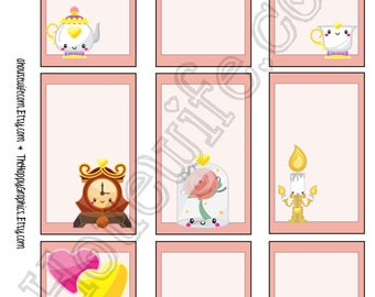 Belle ,  Happy Planner stickers [262] , Full box, A5 PDF, Instant download