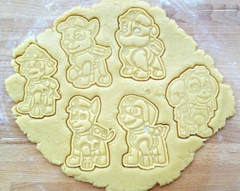 Paw Patrol cookie cutters set. 6 cookie cutters in set. Dog cookies. Kid's birthday decorations
