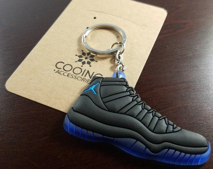 Jordan Black Blue Shoe Keychains