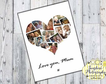 Personalised Heart Photo A4 Print