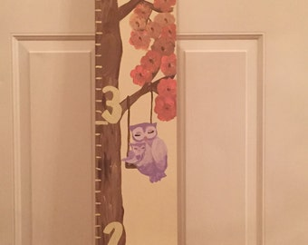 Mommy and baby owl Growth chart