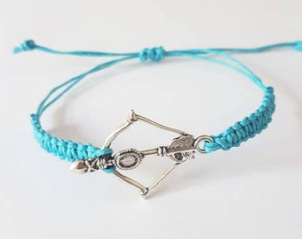 Native bow and arrow braid bracelet