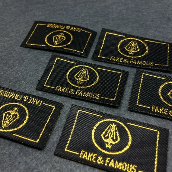 100 1000 pcs custom woven labels iron on name labels iron for Heat press shirt labels