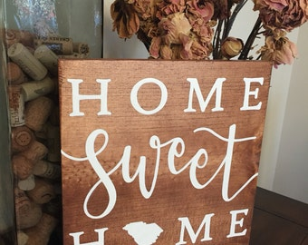 Personalized Home Sweet Home | Customizable | State Sign