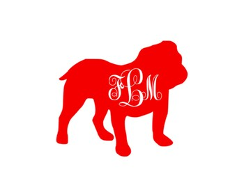 georgia bulldog monogram ga decal sticker tumbler coffee mug travel car laptop athens sec uga dawgs
