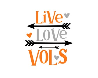 Live Love Vols Decal