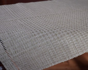 Handwoven linen table runner Linen tablecloth Handwoven tablecloth