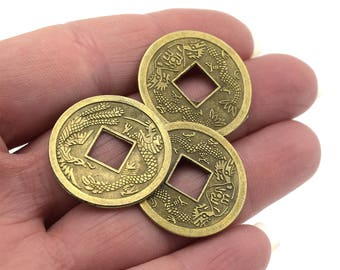 Coins ancient Chinese Feng Shui lucky D1