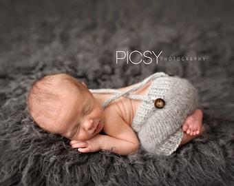 Baby Knit Overalls, Newborn Overalls, Baby Overalls, knit overalls, newborn photo prop, knit prop, Shorts, Newborn Photography, Photo prop