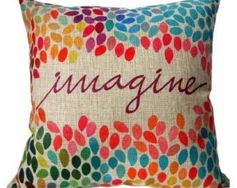 "Beatles Inspired "" Imagine"" Pillow Cover"