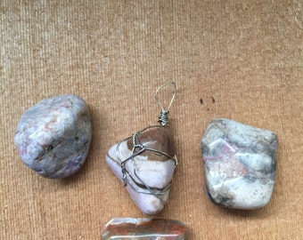 Wire Wrapped Large Tumbled Jasper