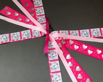 Marie Cat Ribbon Ponytail Streamers