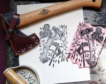 AMENDS I Hand-cut Relief Print, Limited Edition