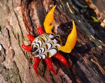 Big Glass crab figurine crab animals glass crab miniature art glass omar toy murano animals tiny small statue figure glass sculptures gift