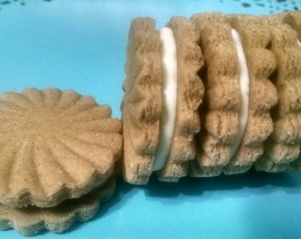 Peanut Butter Sandwich Dog Cookies *  Organic
