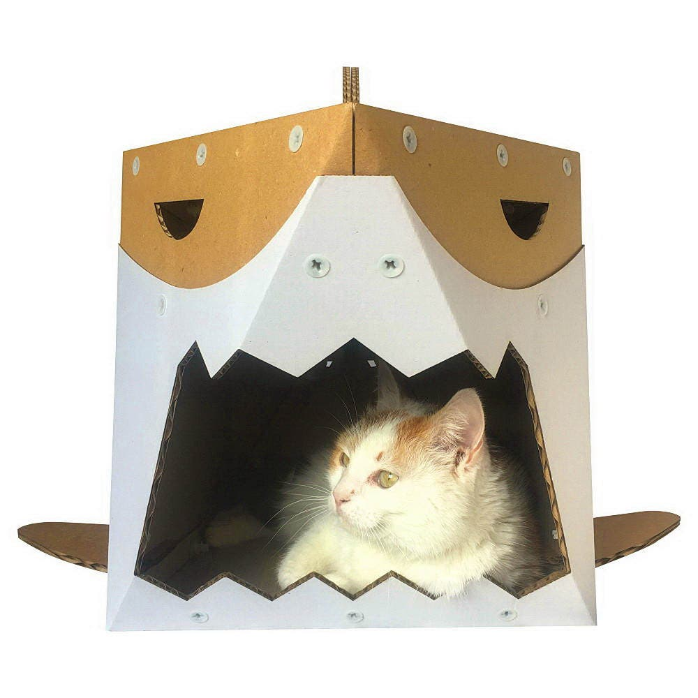 Shark Cardboard Cat Houseunique Cat Furniturecat Toycat