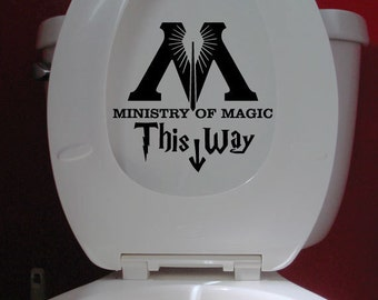Ministry of Magic Decal Vinyl Sticker - Bathroom Toilet Decal Funny Harry Potter Hogwarts