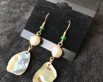 Multi-Colored with Pearl Earrings