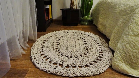 Large Crochet Rug Home Decor