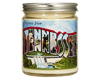 Tennessee Candle, Tennessee Gift, Scented Candle, Container Candle, Soy Candle, Vintage Tennessee, Candle Gift, Moving Gift