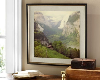 Lauterbrunnen Valley / Switzerland Prints /Lauterbrunnen /Switzerland /Mountain Valley / Instant Digital Download/ Apls/ Travel Photography