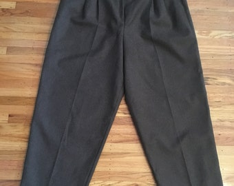 Vintage high waist brown wool pants