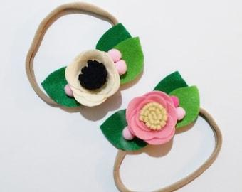 Τσόχινο λουλούδι σε headband (κορδλελα) /Baby Girl, Toddler, Girls Felt flower Headband