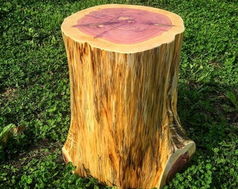 Tree Stump Side Table, Rustic Coffee Table, Log Stool, Log Stump, Wood Round, Stump Stool, Live Edge End Table, Live Edge Coffee Table