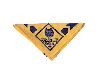 Vintage Cub Scouts BSA Handkerchief Neckerchief Bandana