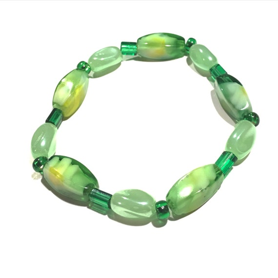Green | Yellow | White | Daisy flower | Glass beaded Bracelets | Bracelet | SUMMER