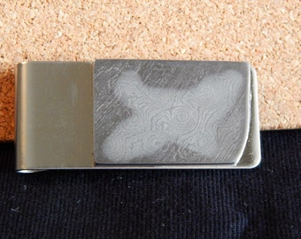 Mirage  -  Raindrop Damascus Money Clip