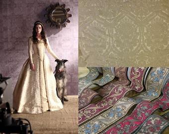Custom Made Tudor 'Reign' Damask Wedding Dress