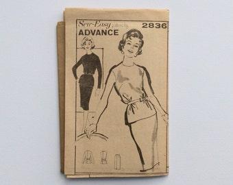 FF 1960s B38 Dress & Jacket Sewing Pattern : Advance 2836