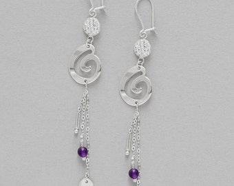 Earrings Améthyst and Silver