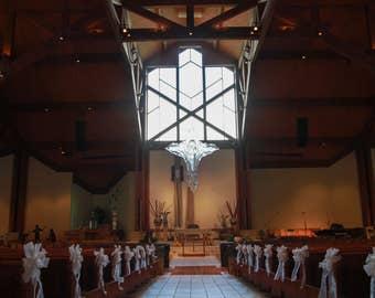 A Dozen Beautiful Wedding Pew Bows