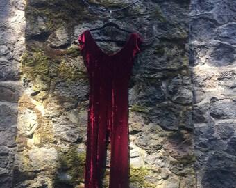 EPIC Vintage Betsey Johnson Velvet Jumpsuit size L