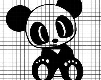 Baby Panda SVG/DXF/download for Cricut and Silhouette