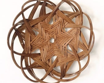 Primitive Star Flower Wall Basket