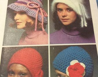 Vintage Simplicity Pattern 5284 Instructions to make crochet hats