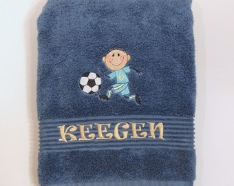 Personalized towels for kids, karate towel, soccor towel, sports towels, kids birthday gift idea, personal kids bath towel, birthday gift